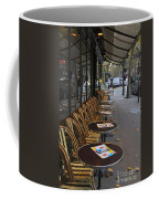Tables Outside A Paris Bistro On An Autumn Day Coffee Mug