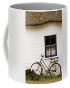 Tahtched Cottage And Bike Coffee Mug