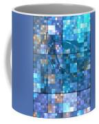 Take Me Geometric Blue Coffee Mug