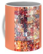 Take Me Geometric Red Coffee Mug