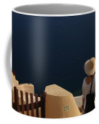 Taking In The View Santorini Coffee Mug