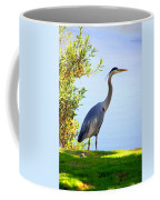 Tall Grey Heron Coffee Mug
