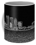 Tampa Panorama Digital - Black And White Coffee Mug