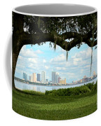 Tampa Skyline Through Old Oak Coffee Mug