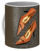 Tan Ostrich With Golden Buckles Coffee Mug