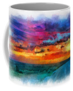 Taos Sunset Iv Watercolor Coffee Mug