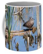 Teal Standing On One Leg Coffee Mug