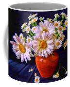 Technicolor Daisies In An Orange Pot Coffee Mug