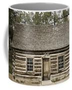 Teddy Roosevelt's Maltese Cross Log Cabin Retro Style Coffee Mug