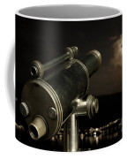 Telescope And Red Moon Coffee Mug