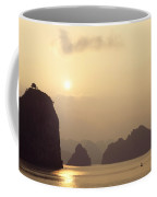 Temple At Sunset In Halong Bay Coffee Mug