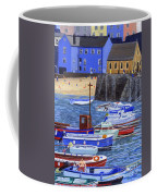 Painting Tenby Harbour With Boats Coffee Mug