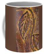 Terracotta Raised Relief Pottery Leaf Coffee Mug