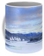 Teslin River At Sunset, Teslin, Yukon Coffee Mug