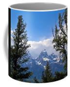 Teton Through The Trees Coffee Mug