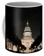 Texas Capitol Building At Night - Horz Coffee Mug