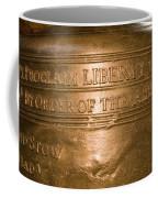 Text On The Liberty Bell Coffee Mug by Tim Laman