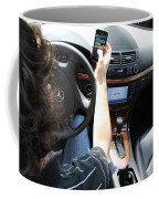 Texting And Driving Coffee Mug by Photo Researchers, Inc.