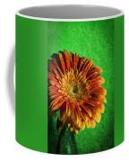 Textured Orange Flower Coffee Mug