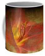 Textured Red Daylily Coffee Mug