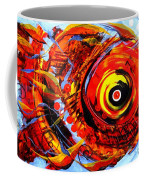 Textured Red Fish Coffee Mug