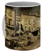 Textured Square With Fountain Coffee Mug