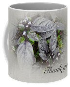 Thank You Card - Silver Leaves And Berries Coffee Mug