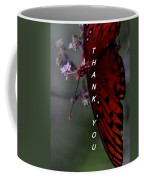 Thank You Card - Butterfly Coffee Mug