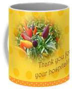 Thank You For Your Hospitality Greeting Card - Decorative Pepper Plant Coffee Mug