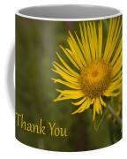 Thank You Yellow Aster Coffee Mug