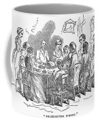Thanksgiving Dinner, 1850 Coffee Mug