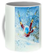 The Aerial Skier - 14 Coffee Mug by Hanne Lore Koehler
