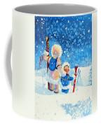 The Aerial Skier - 4 Coffee Mug by Hanne Lore Koehler