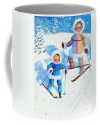 The Aerial Skier - 6 Coffee Mug by Hanne Lore Koehler