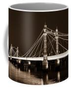 The Albert Bridge London Sepia Toned Coffee Mug
