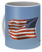 The American Flag Waves At Half-mast Coffee Mug