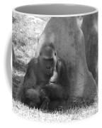The Angry Ape In Black And White Coffee Mug