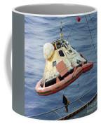 The Apollo 8 Capsule Being Hoisted Coffee Mug