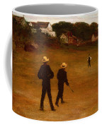 The Ball Players Coffee Mug by William Morris Hunt