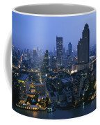 The Bangkok Skyline At Dusk Coffee Mug