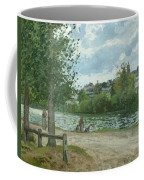 The Banks Of The Oise At Pontoise Coffee Mug