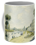 The Banks Of The Seine At Bougival Coffee Mug