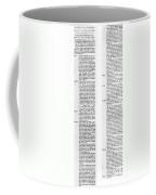 The Bill Of Rights, 1789 Coffee Mug