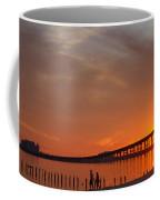 The Biloxi Bay Bridge At Sunset Coffee Mug