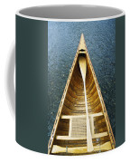 The Bow And Oar Of A Handmade Wooden Coffee Mug by Bill Curtsinger