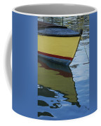 The Bow Of An Anchored, Striped Boat Coffee Mug
