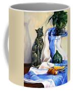 The Cat And The Cloth Coffee Mug