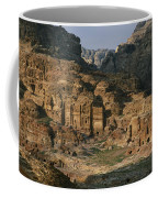 The Caves And Tombs Of Petra, Shown Coffee Mug