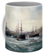 The Channel Fleet Off Scarborough Coffee Mug