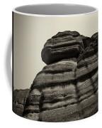 The Cliff Bw Coffee Mug